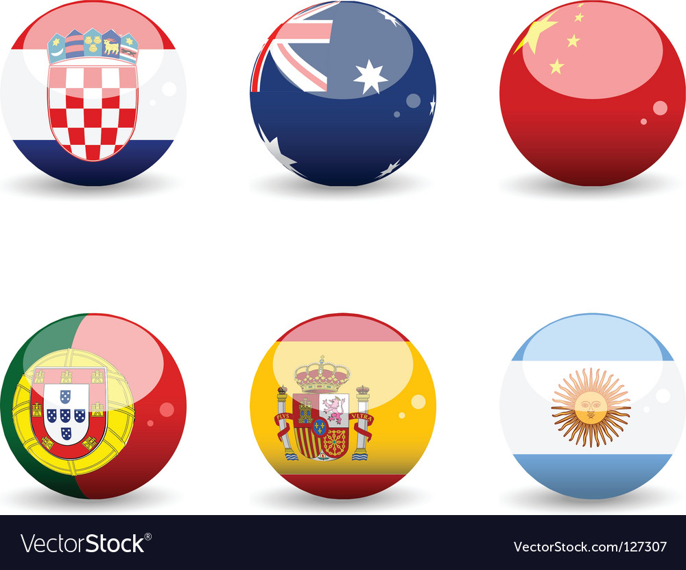 Flag spheres vector | Price: 1 Credit (USD $1)