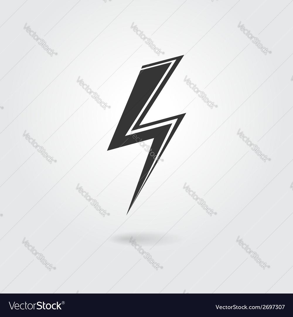 Lightning icon vector | Price: 1 Credit (USD $1)