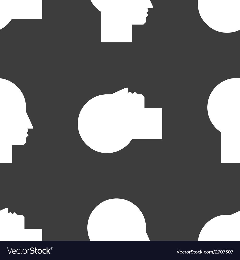Man silhouette profile picture web icon flat vector | Price: 1 Credit (USD $1)