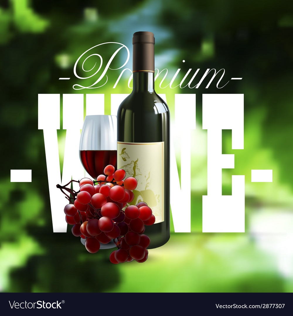 Premium wine design vector | Price: 1 Credit (USD $1)