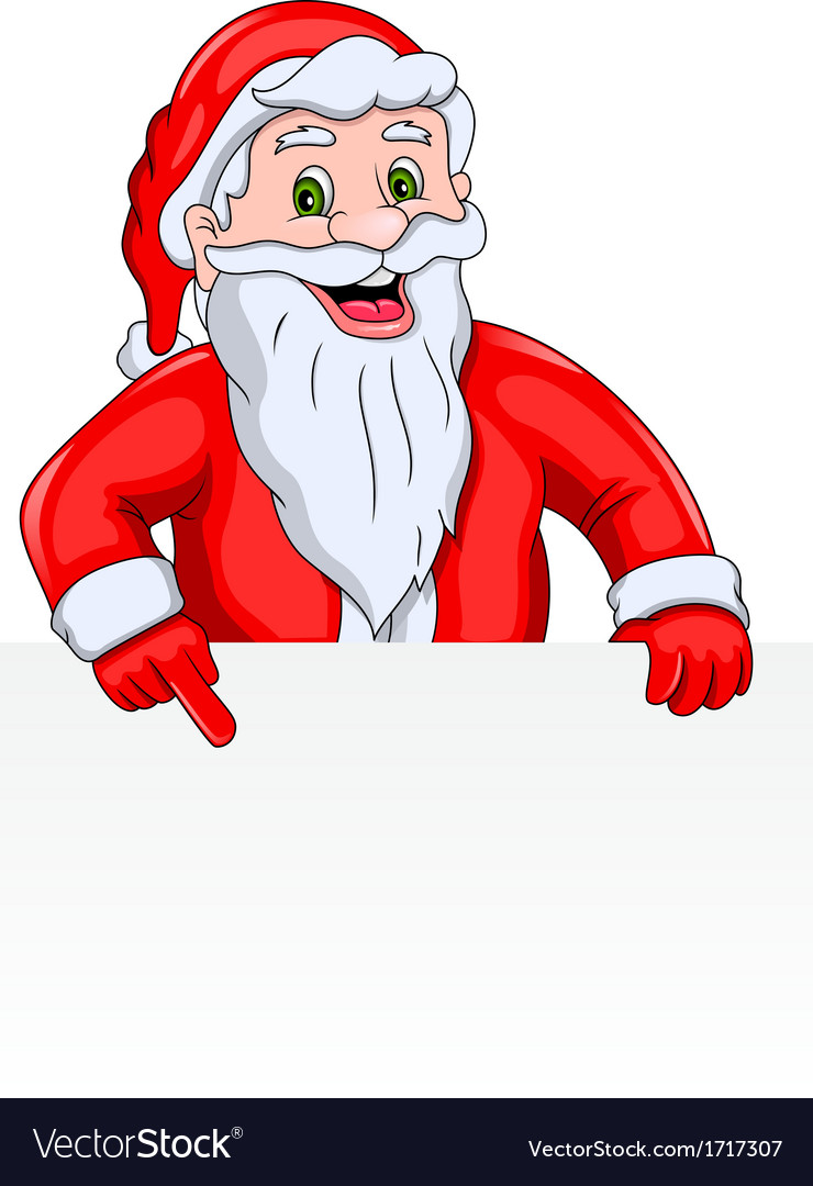 Santa claus with a blank sign vector | Price: 1 Credit (USD $1)