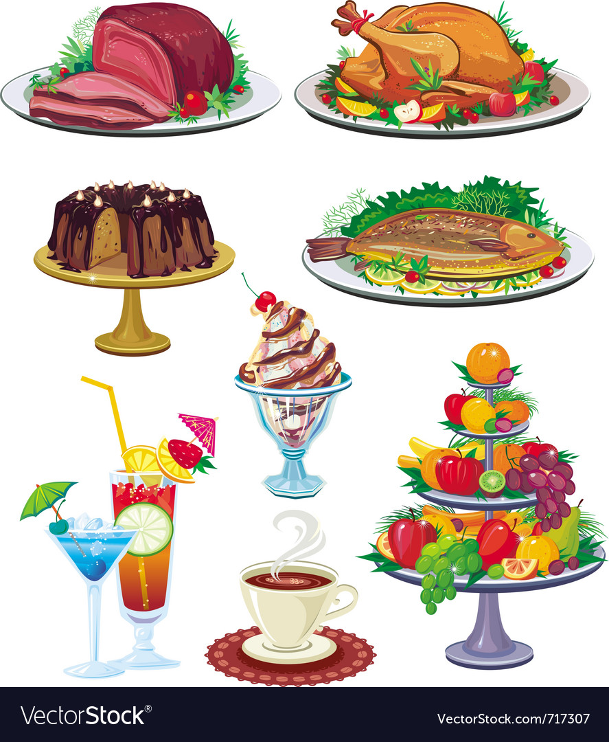 Set of dishes vector | Price: 3 Credit (USD $3)