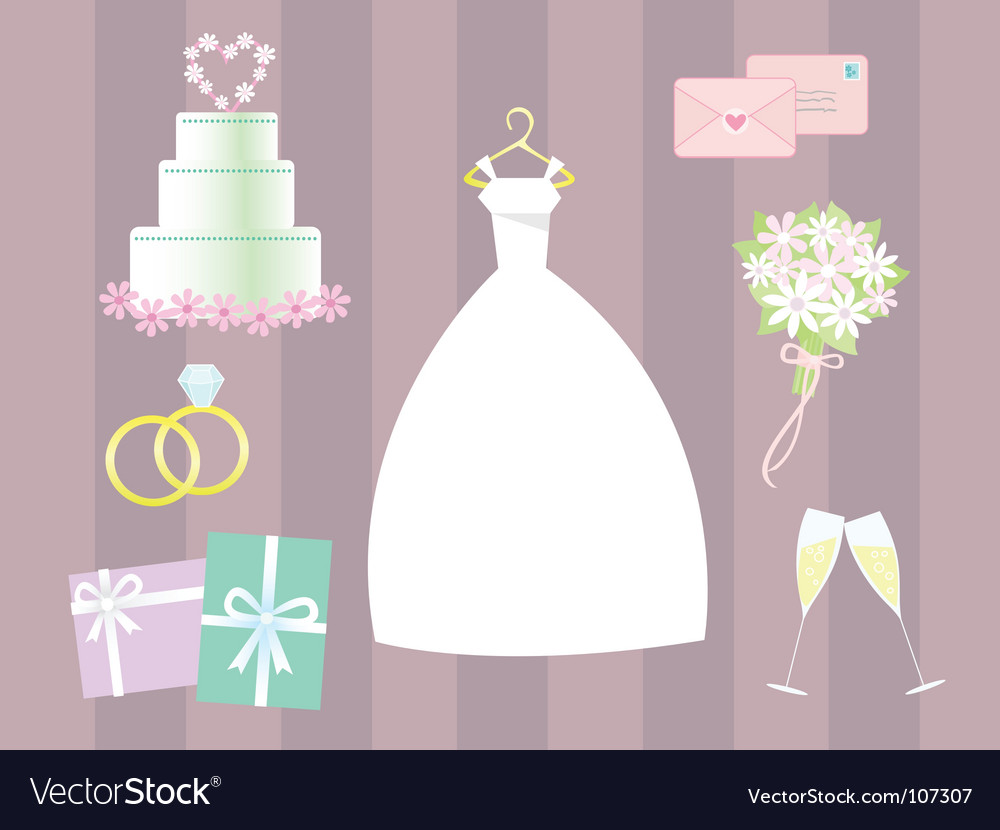Wedding clip art vector | Price: 1 Credit (USD $1)