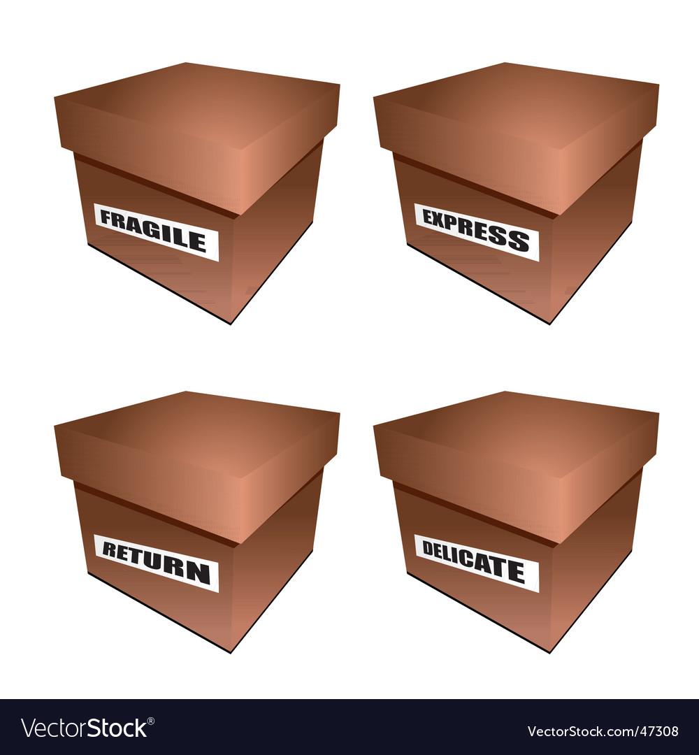 Cardborad box notice vector   Price: 1 Credit (USD $1)