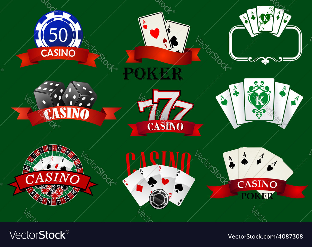 Casino and gambling icons set vector | Price: 1 Credit (USD $1)