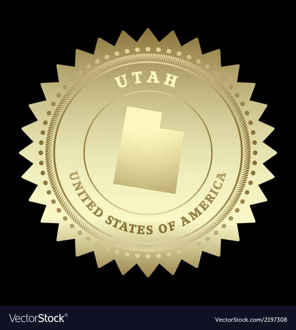 Gold star label utah vector | Price: 1 Credit (USD $1)