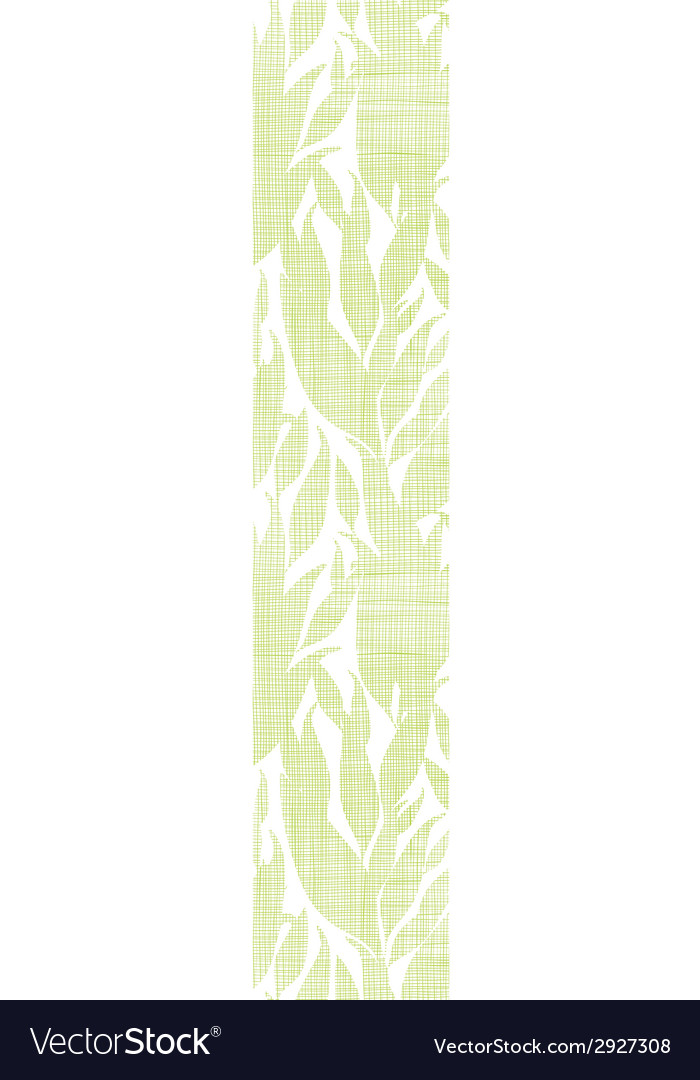Green leaves textile texture vertical seamless vector | Price: 1 Credit (USD $1)