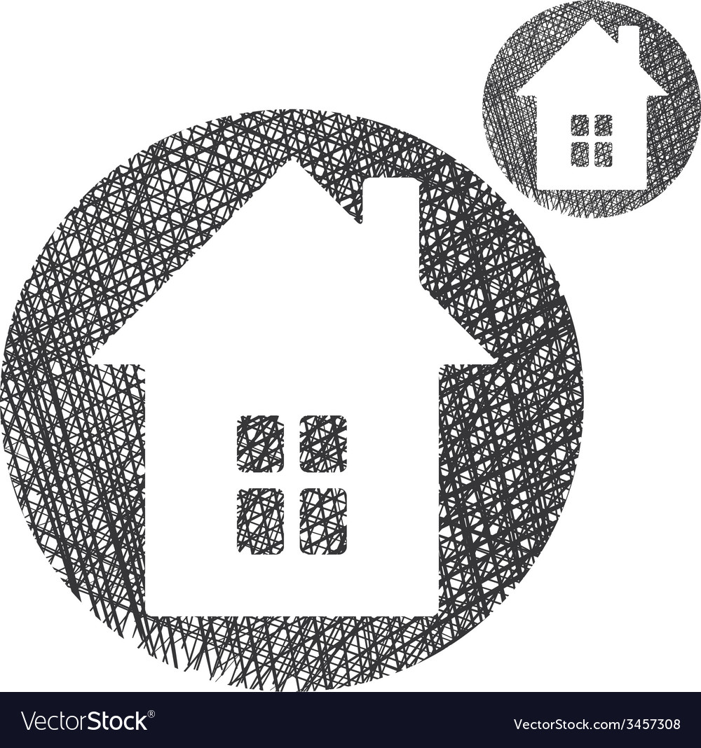 House simple single color icon isolated on white vector | Price: 1 Credit (USD $1)