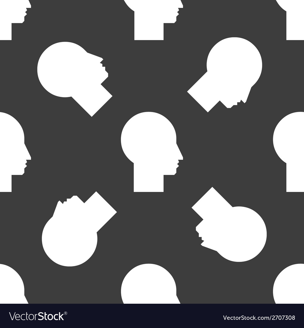 Man silhouette profile picture web icon flat vector | Price: 1 Credit (USD $1)