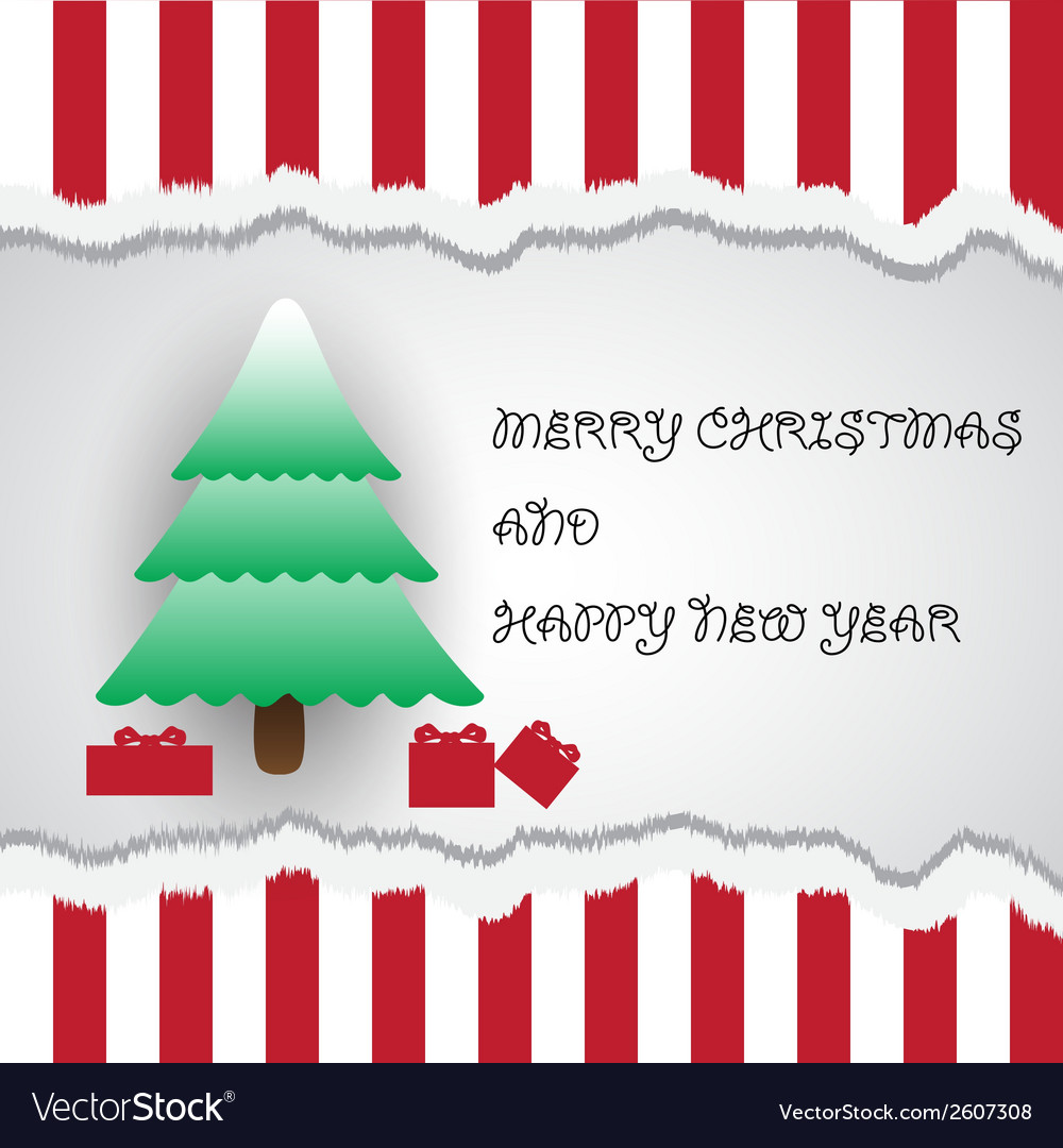 Merry christmas and happy new year card eps10 vector | Price: 1 Credit (USD $1)