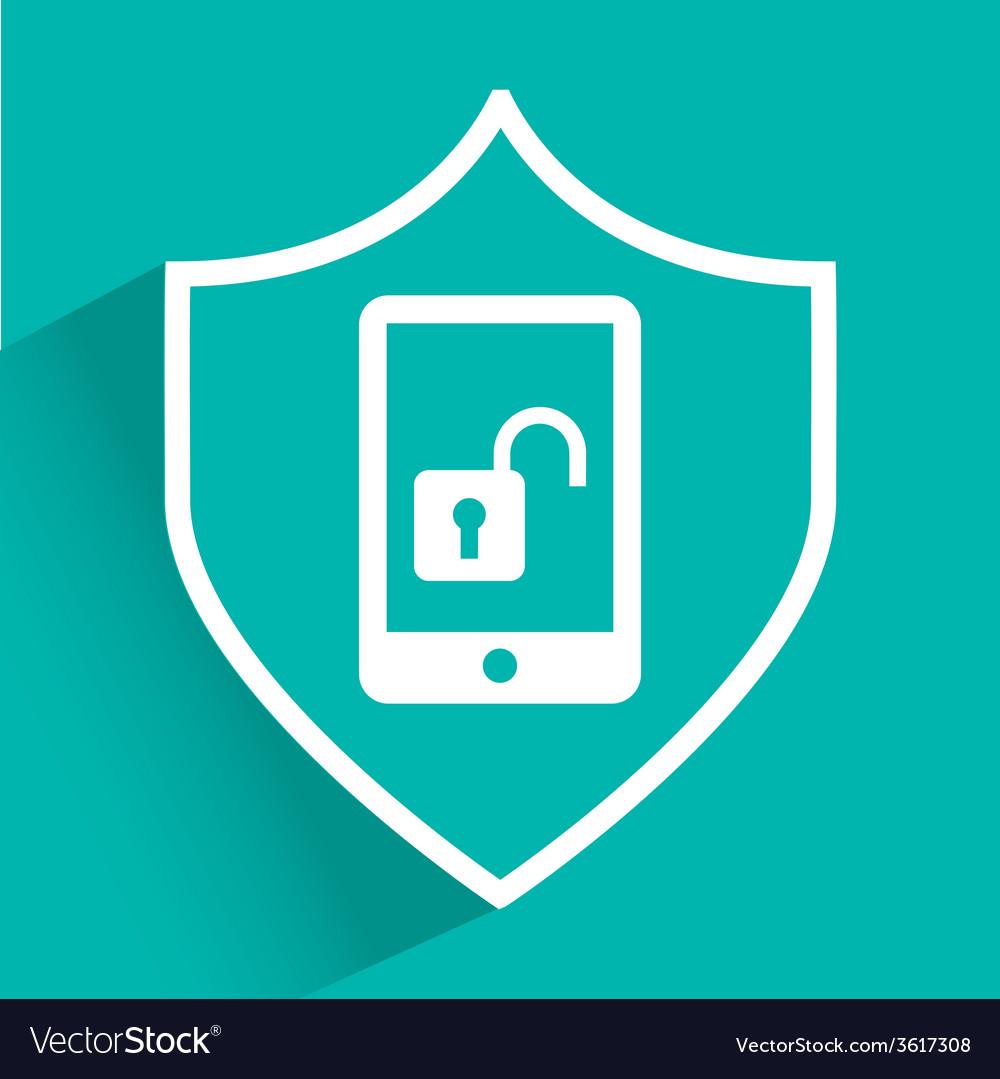 Phone unlock vector | Price: 1 Credit (USD $1)
