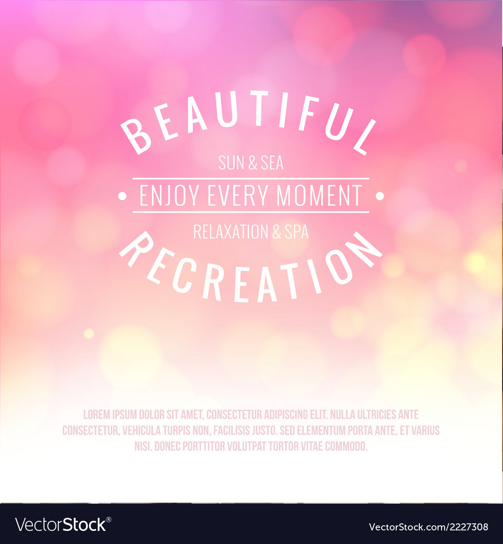 Pink bokeh background vector | Price: 1 Credit (USD $1)