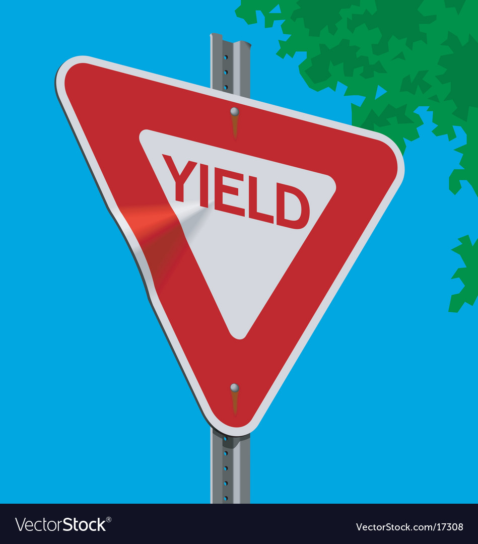 Roadsign-yield vector | Price: 1 Credit (USD $1)