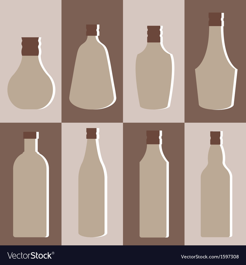 Set of alcohol bottle vector | Price: 1 Credit (USD $1)