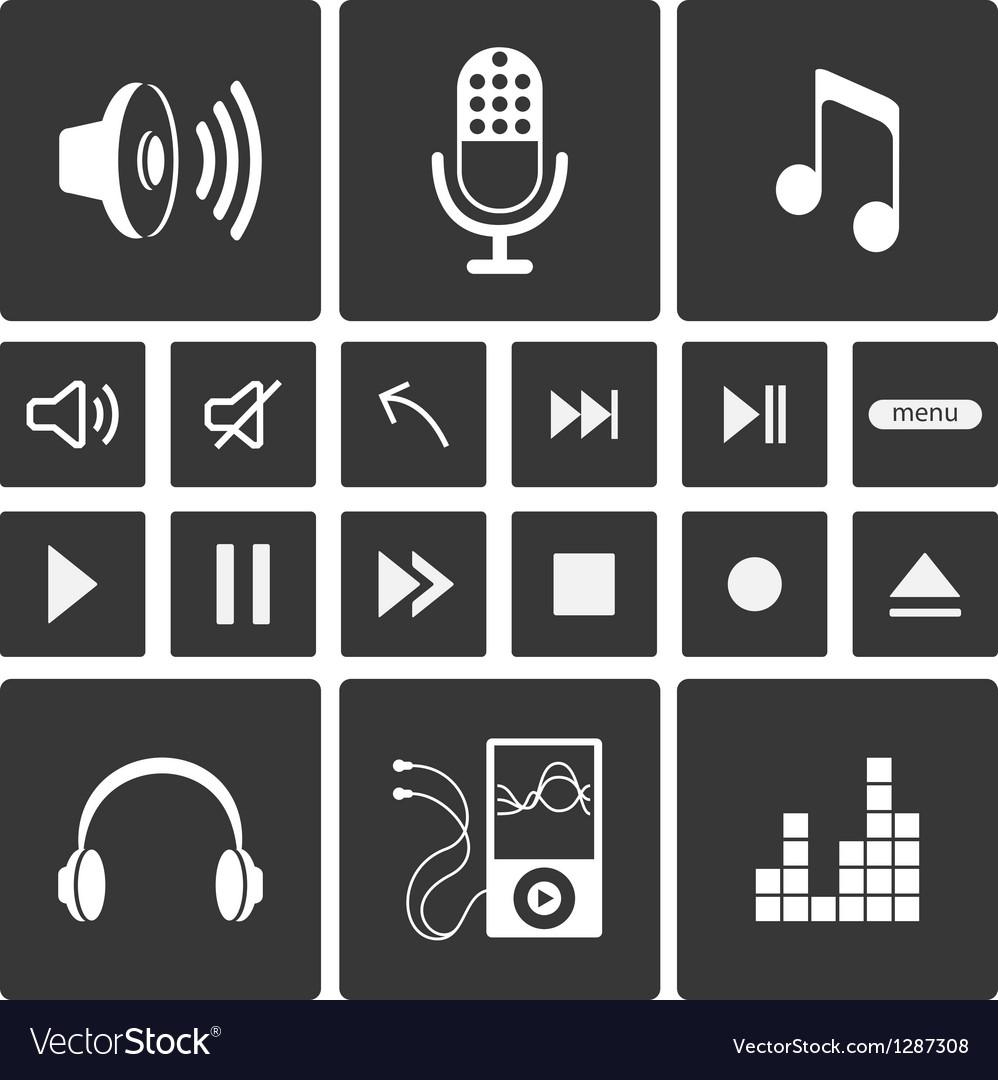 Sound icons vector | Price: 1 Credit (USD $1)