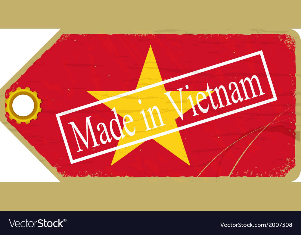 Vintage label with the flag of vietnam vector | Price: 1 Credit (USD $1)