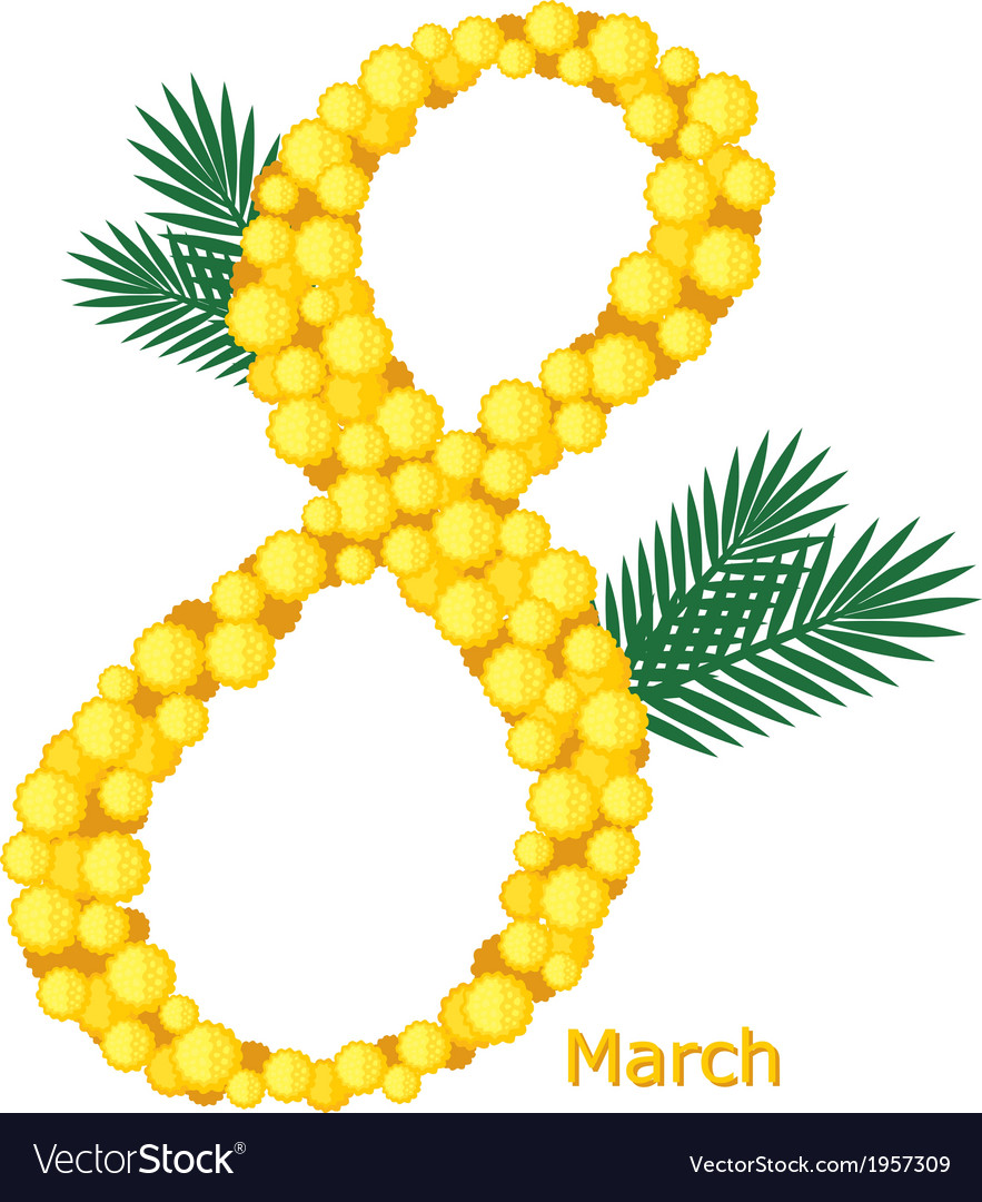 8march mimose vector | Price: 1 Credit (USD $1)