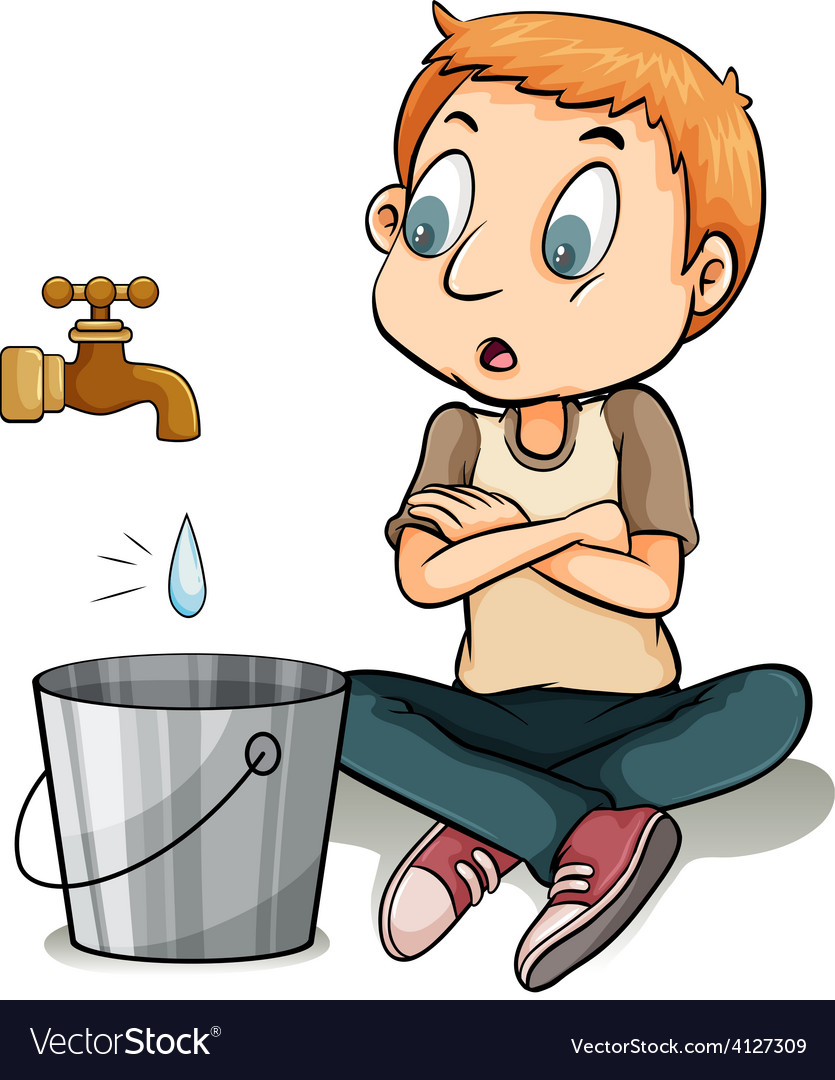 Boy watching the water vector | Price: 3 Credit (USD $3)
