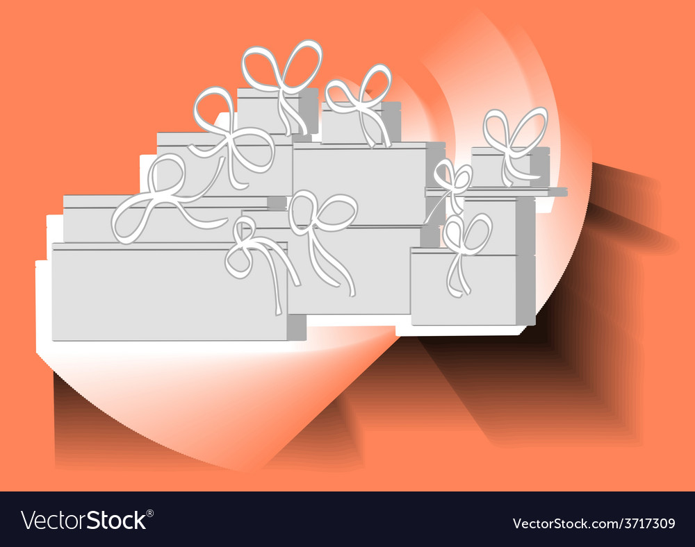 Christmas present pile vector | Price: 1 Credit (USD $1)