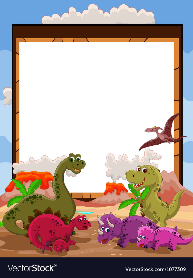 Dinosaur with blank sign vector   Price: 3 Credit (USD $3)