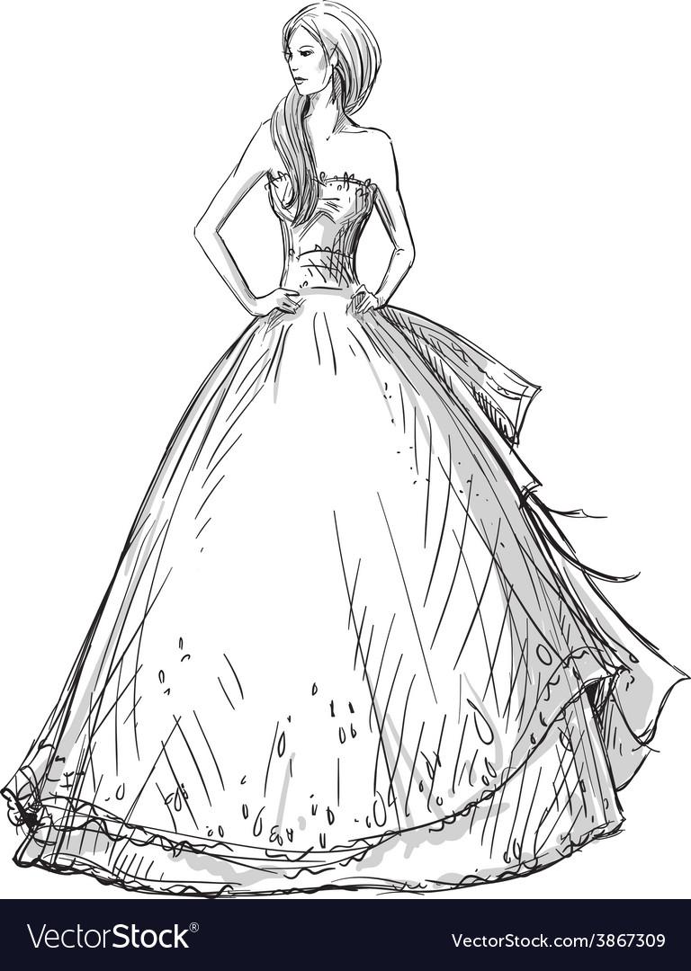 Fashion hand drawn vector | Price: 1 Credit (USD $1)