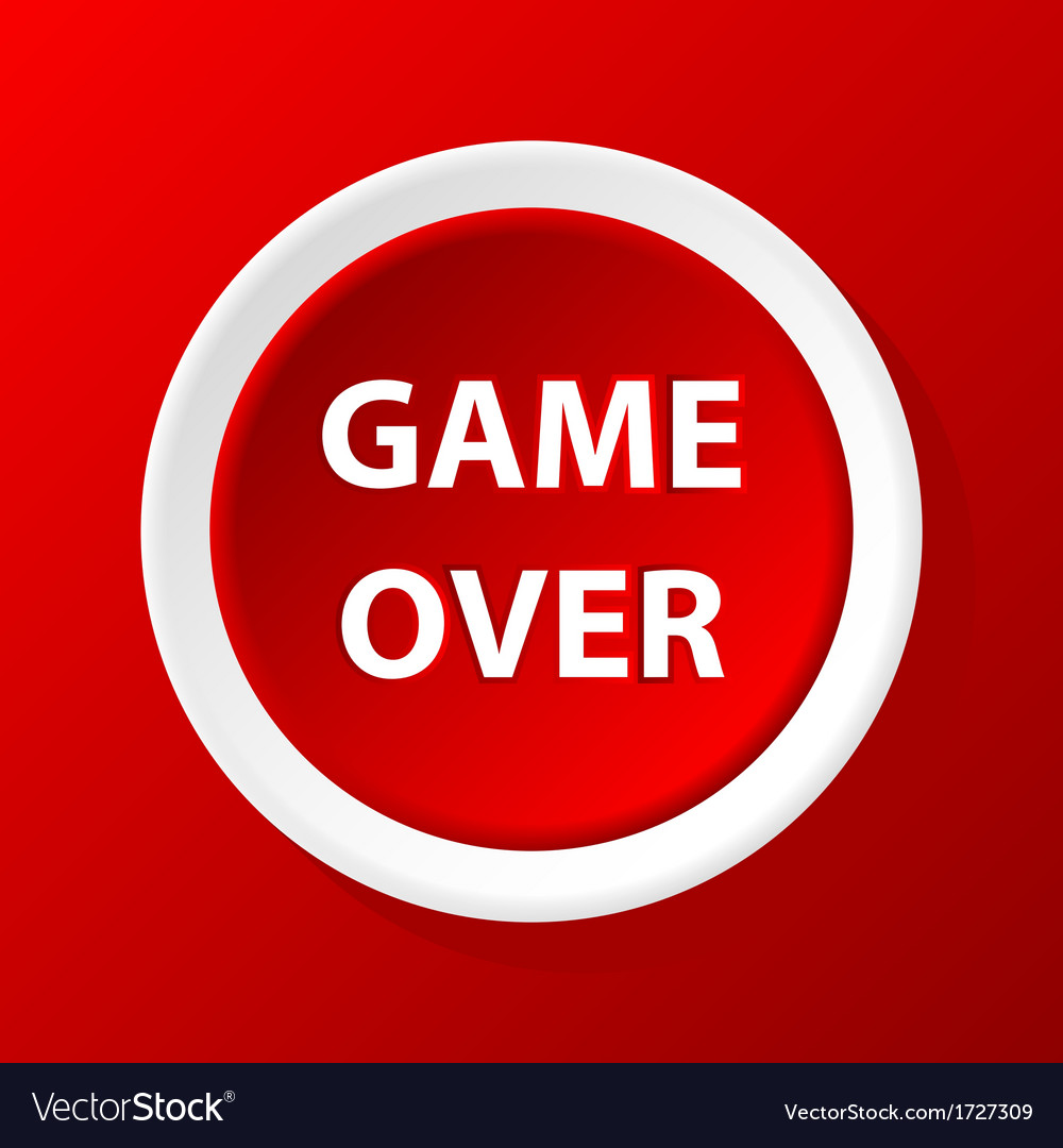 Game over icon vector | Price: 1 Credit (USD $1)