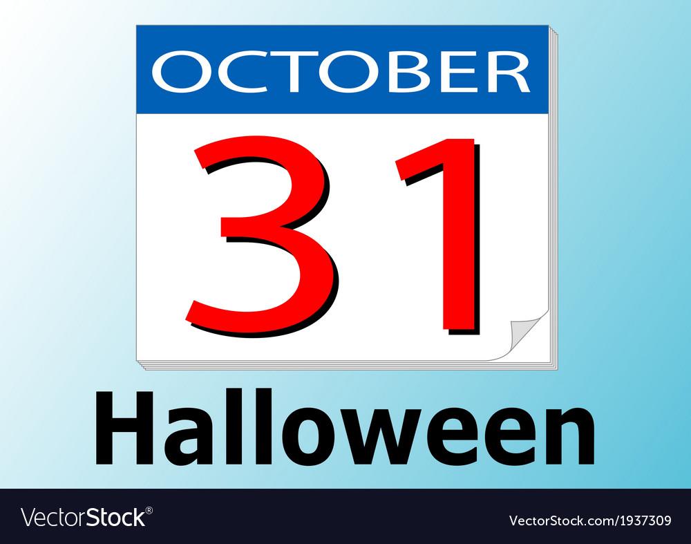Halloween date vector | Price: 1 Credit (USD $1)