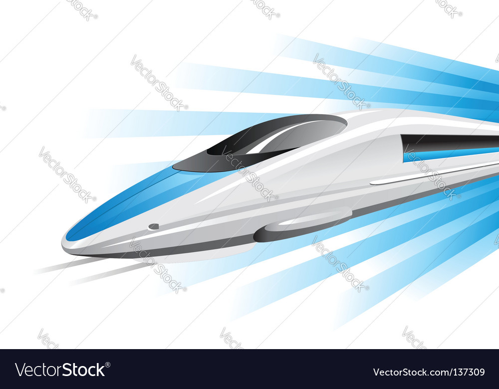 High-speed train on hovercraft vector | Price: 1 Credit (USD $1)