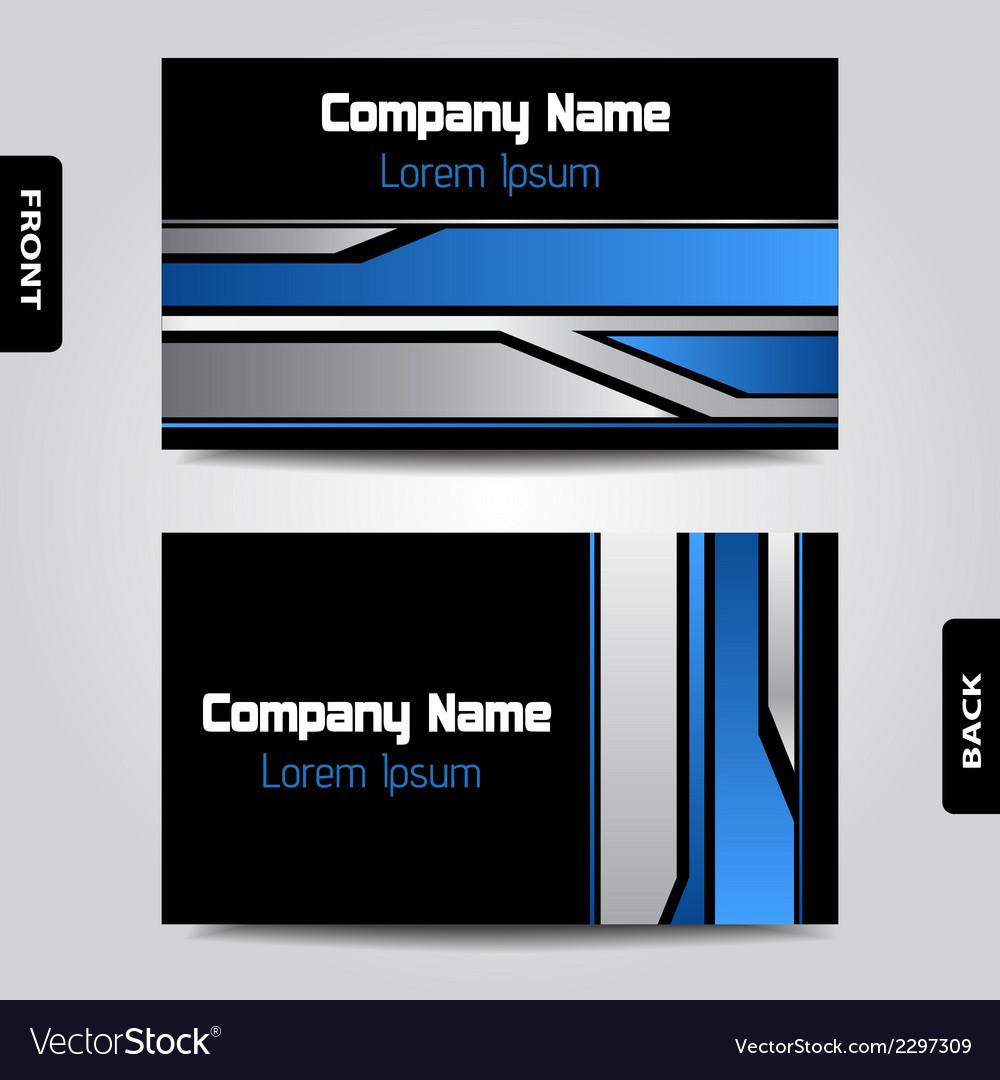 Modern business card vector | Price: 1 Credit (USD $1)