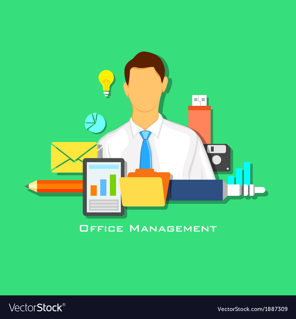 Office management vector | Price: 1 Credit (USD $1)