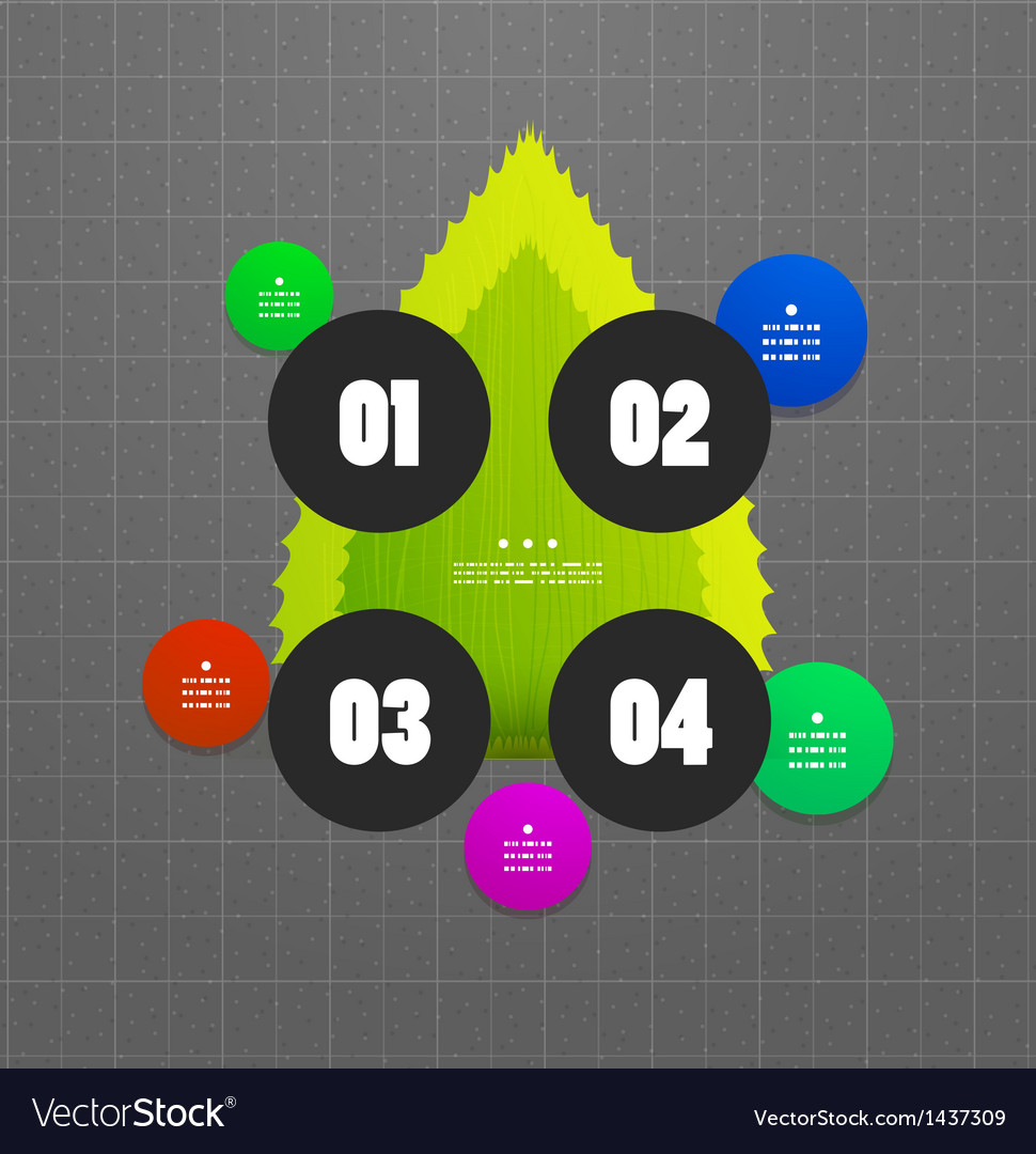 Option steps template vector | Price: 1 Credit (USD $1)