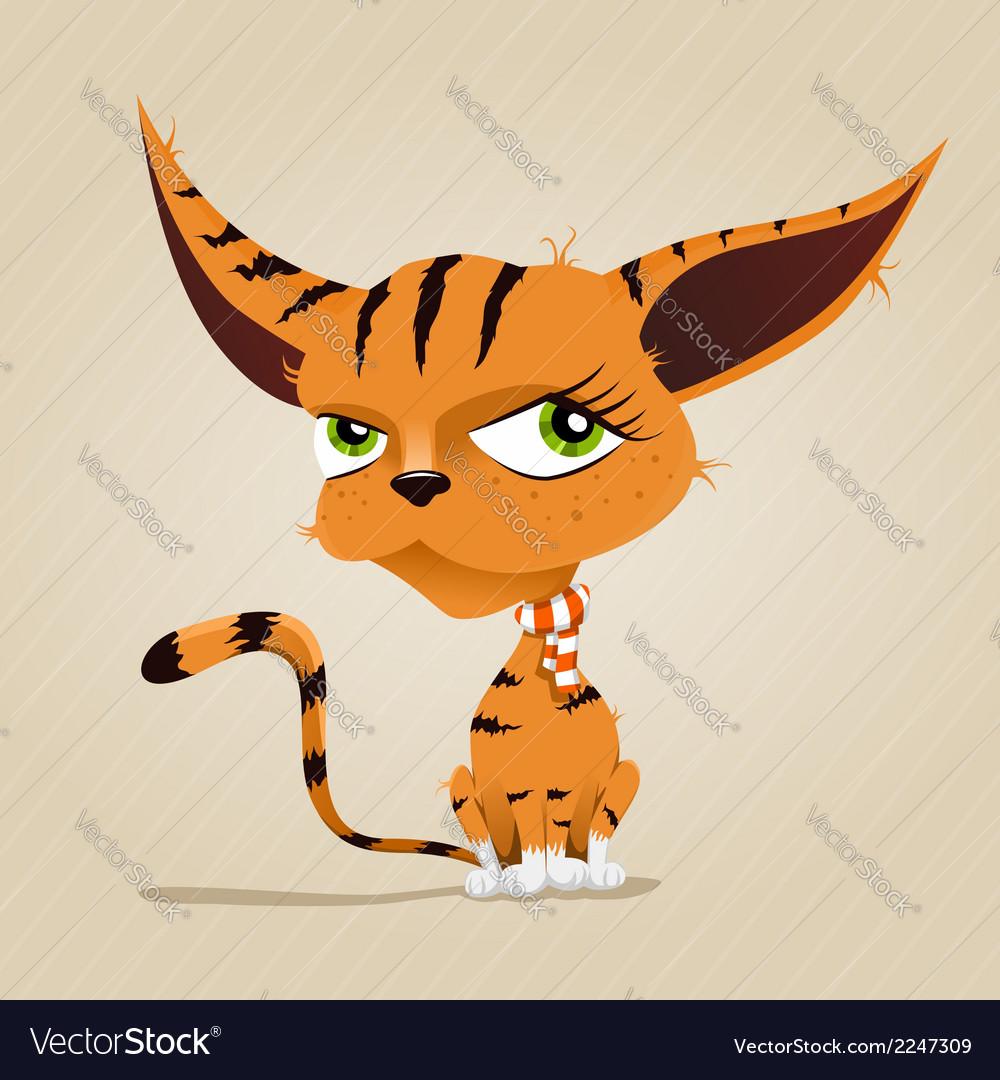 Red cat vector | Price: 1 Credit (USD $1)