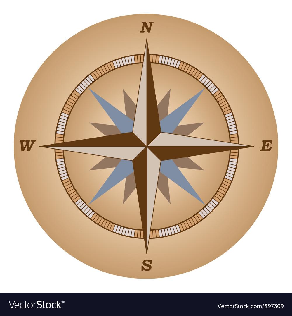 Retro compass vector | Price: 1 Credit (USD $1)