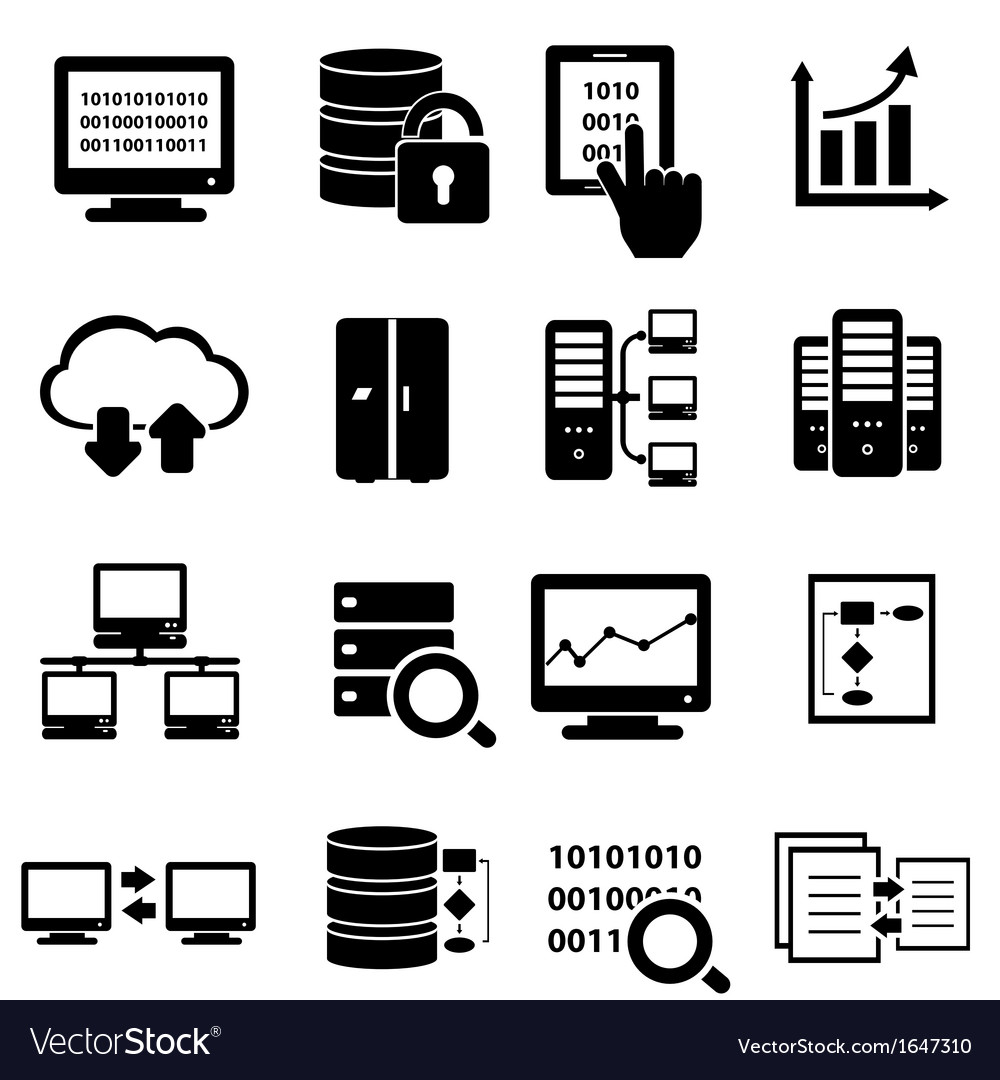 Data icons vector | Price: 1 Credit (USD $1)