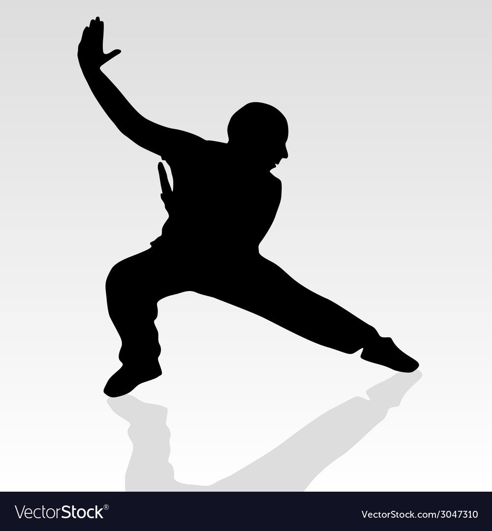 Fighter pose two silhouette vector | Price: 1 Credit (USD $1)