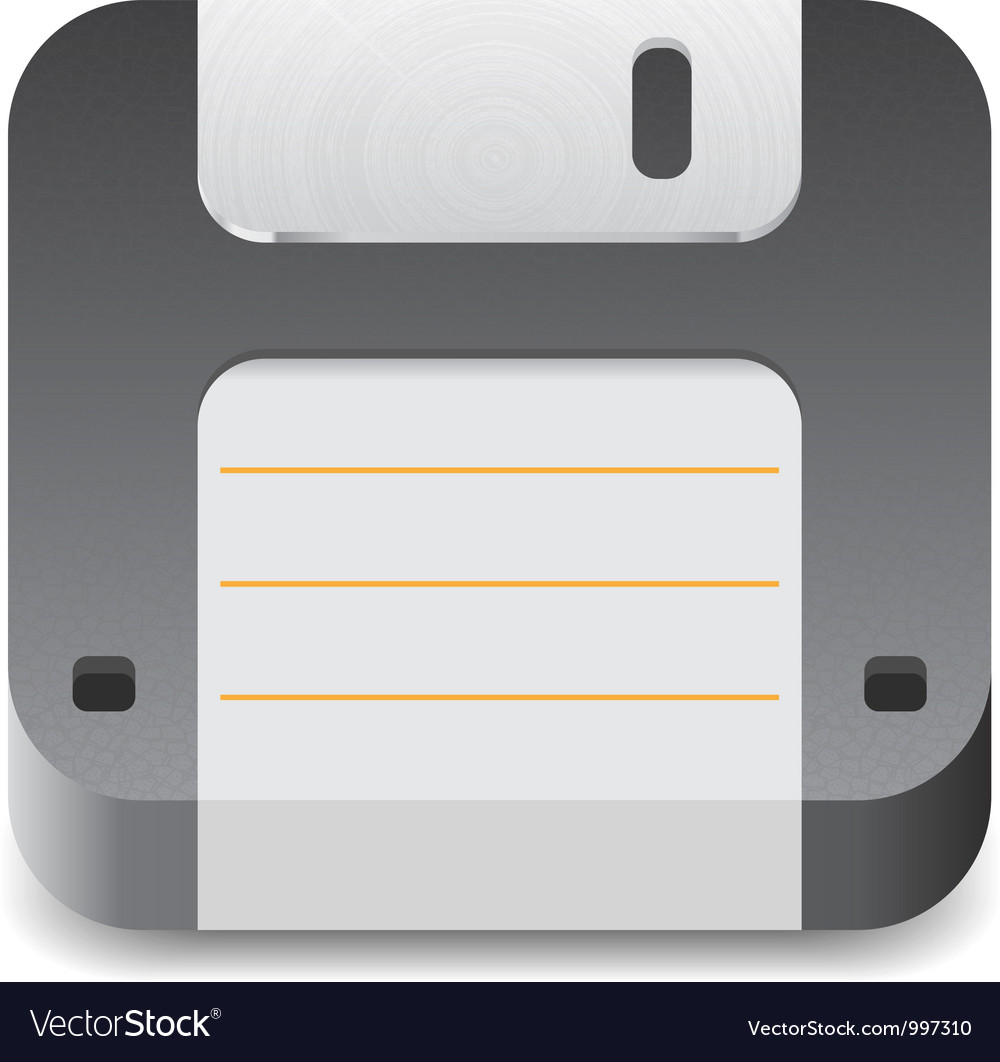 Icon for floppy disk vector   Price: 3 Credit (USD $3)