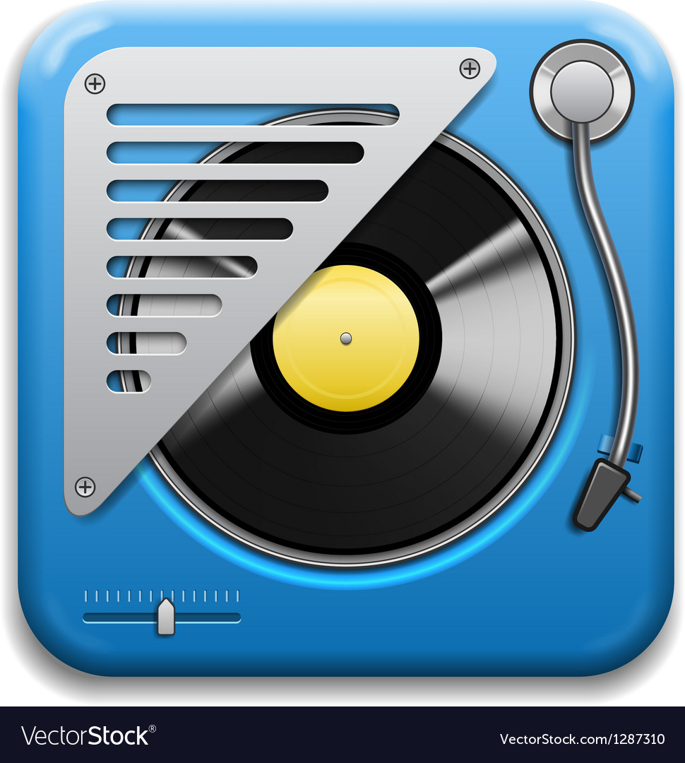 Turntable icon vector | Price: 3 Credit (USD $3)