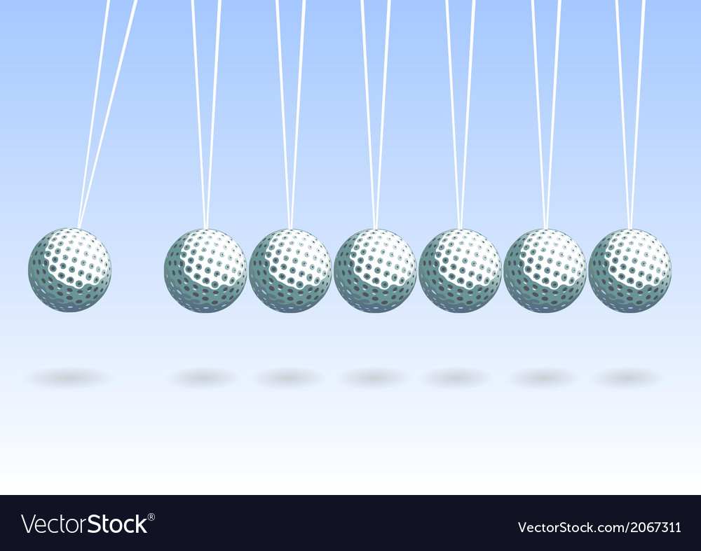 Balancing golf ball vector | Price: 1 Credit (USD $1)