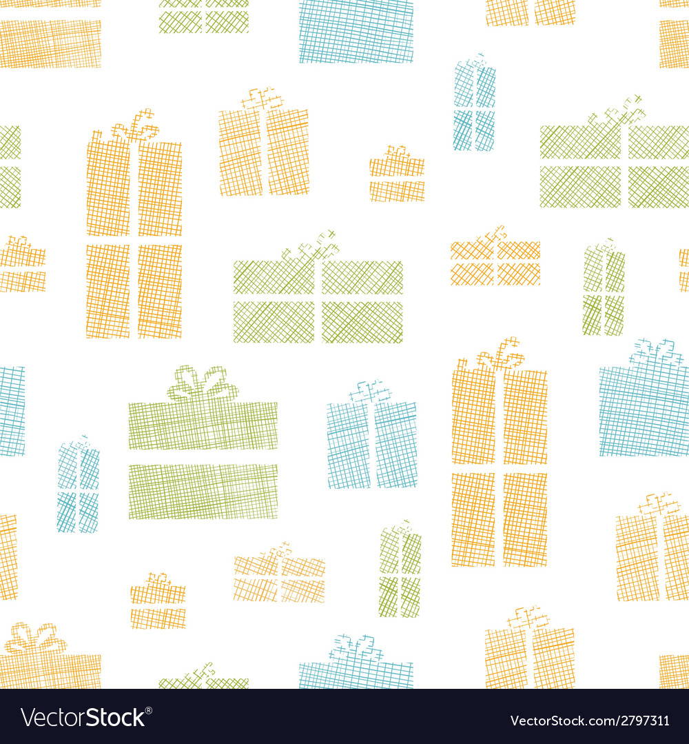 Colorful gift boxes textile texture seamless vector | Price: 1 Credit (USD $1)