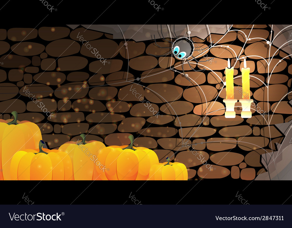 Dark stone dungeon halloween background vector | Price: 1 Credit (USD $1)