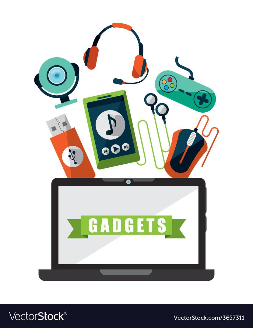 Gadgets tech vector | Price: 1 Credit (USD $1)