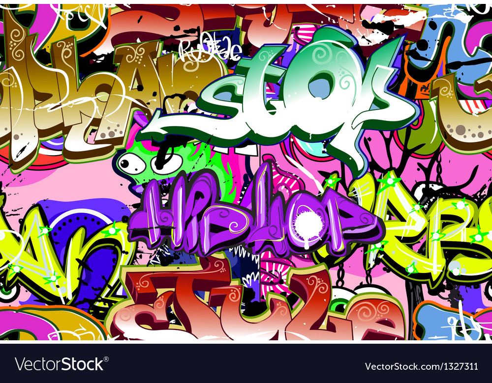 Graffiti wall seamless vector | Price: 1 Credit (USD $1)