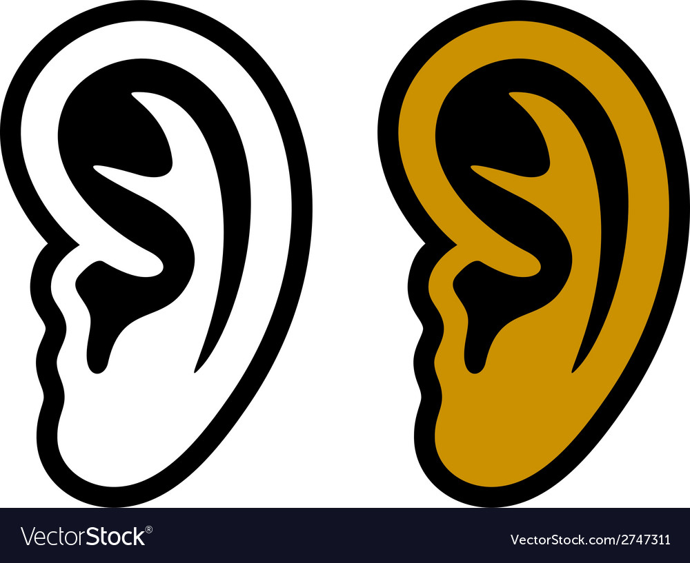 Human ear symbols vector | Price: 1 Credit (USD $1)