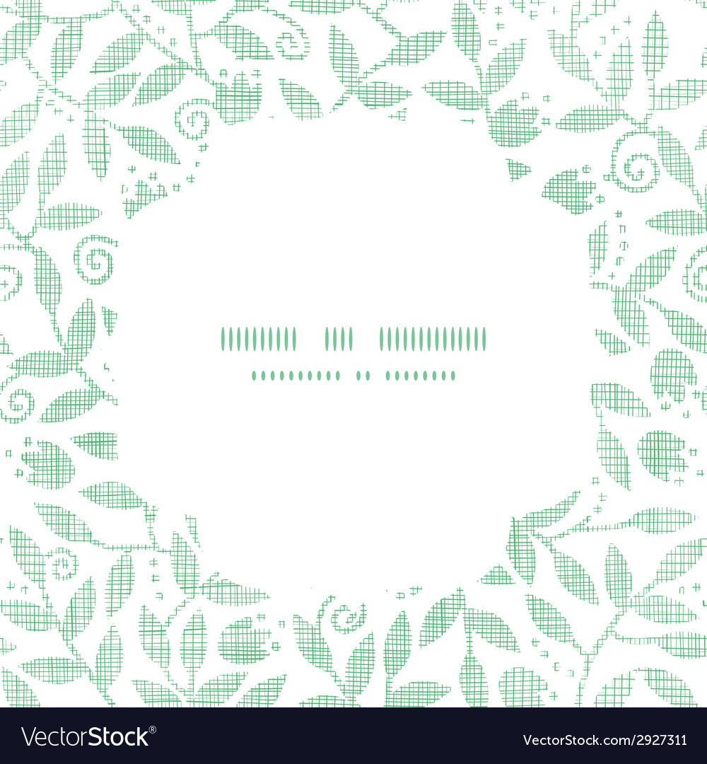 Leaves and swirls textile square frame seamless vector | Price: 1 Credit (USD $1)