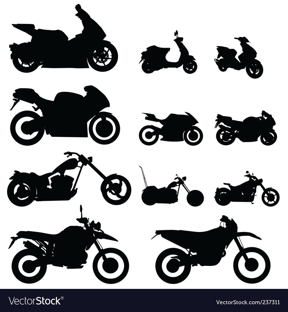 Motorcycle set vector | Price: 1 Credit (USD $1)