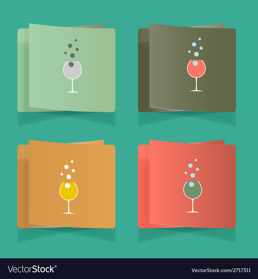 Set of simple glasses for alcoholic drinks vector | Price: 1 Credit (USD $1)