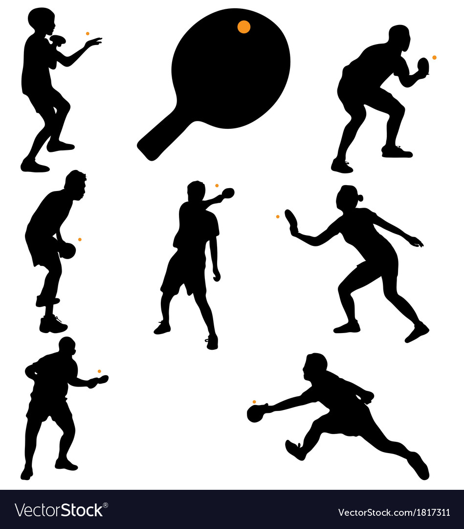 Table tennis players vector | Price: 1 Credit (USD $1)