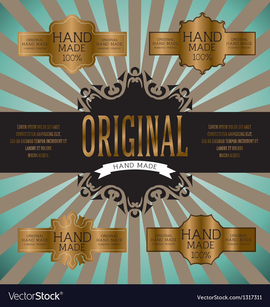 Vintage label for retro banners eps 10 vector | Price: 1 Credit (USD $1)
