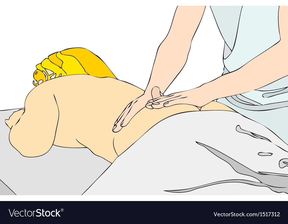 Back massage vector | Price: 1 Credit (USD $1)