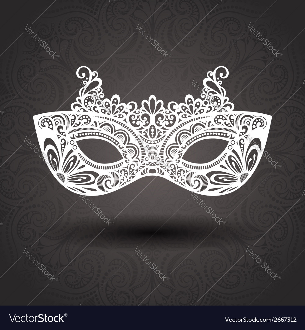 Beautiful masquerade mask vector